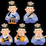 ひな祭りの歌、五人囃子(五人ばやし)とは?楽器は?順番、並べ方
