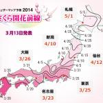 桜前線とは?気象庁からは発表されない?今年はいつ?